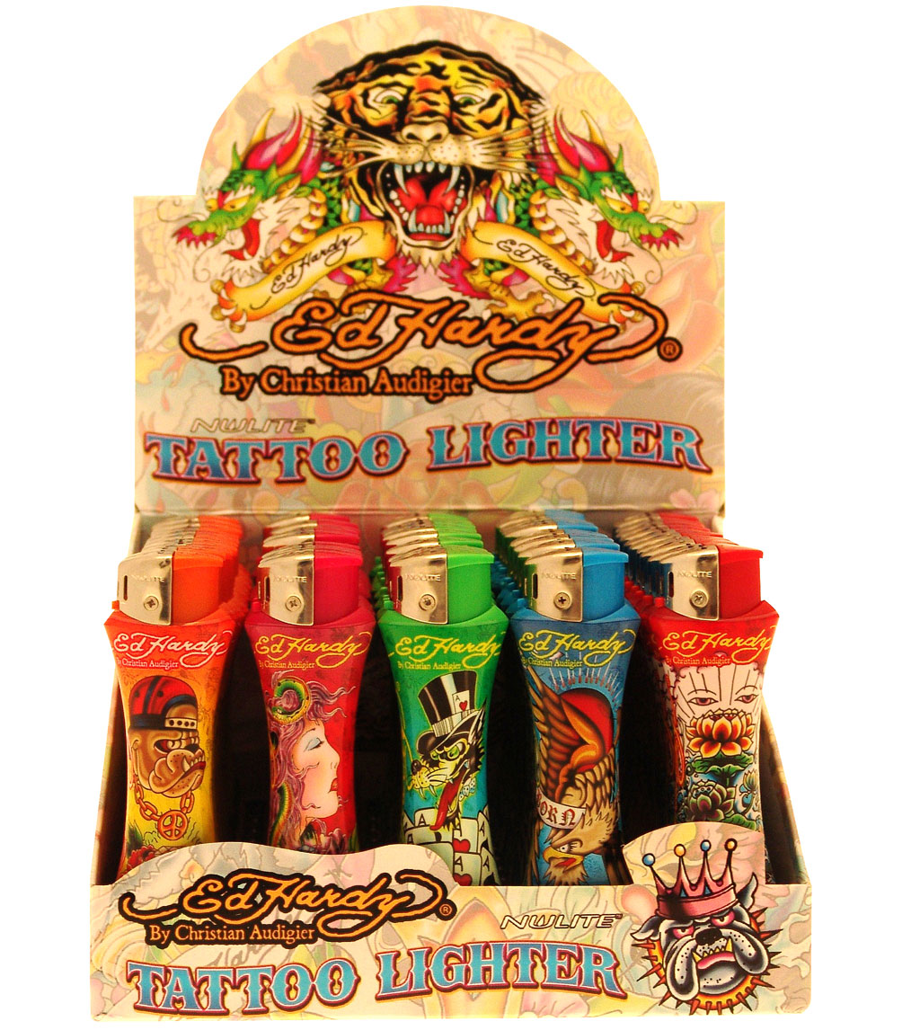 50 Ed Hardy Tattoo Lighters